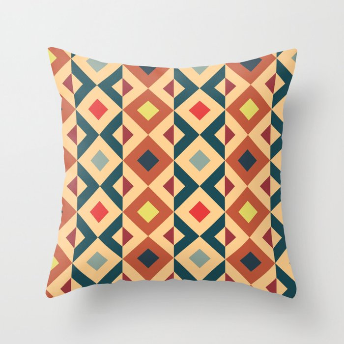 African Pattern No2 Throw Pillow