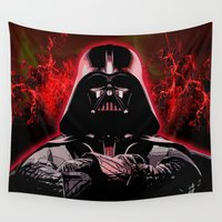 darth vader Wall Tapestries featuring DARTH VADER by DisPrints