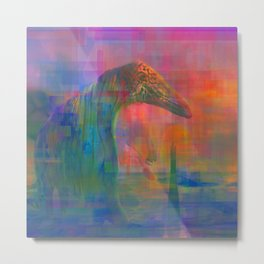 TIGERS, SNAKES AND QUIETGAMES, art piece about a psychedelic stoll through the ocean Metal Print