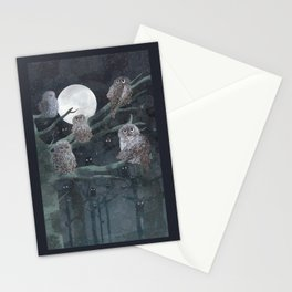 Owles (Detail of Girl with the owles) Stationery Cards