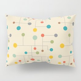 Mid-Century Dots Pattern Pillow Sham