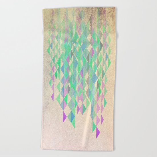 Summer Rain Beach Towel