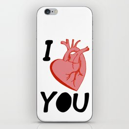 I Love You (white) iPhone Skin