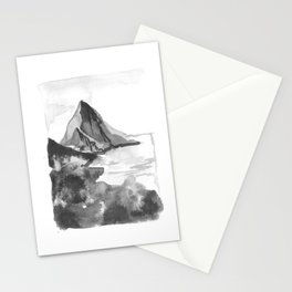 mystic cliffs on the coast Stationery Cards