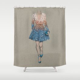 Elie Saab fashion Illustration Shower Curtain
