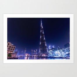 Burj Khalifa Skyscraper In Dubai Art Print