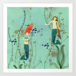 Where Mermaids Come From by Sarah Kiser Art Print