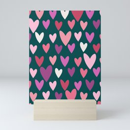 Hearts print conversational Mini Art Print