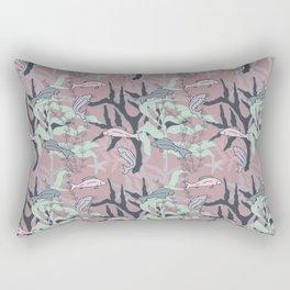 Aquatic Daydream Fish of the Sea Hand Drawn Pastel Print Rectangular Pillow