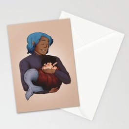 Little merman baby Stationery Cards