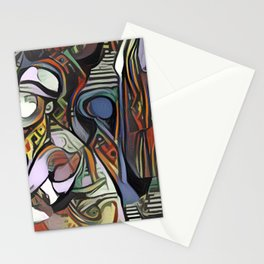 Woman in Fedora Picasso Style Wall Canvas Art Stationery Cards