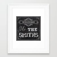 the smiths Framed Art Prints featuring The Smiths by Jason Michael
