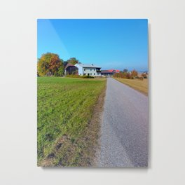 Country road and beautiful panorama | landscape photography Metal Print