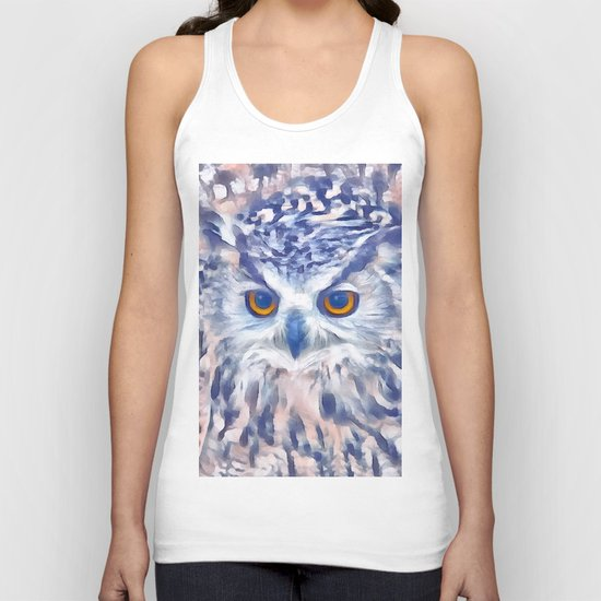Fluffy owl Unisex Tank Top