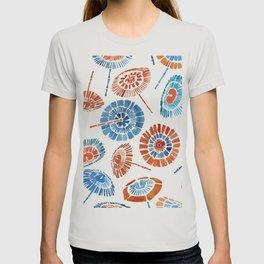 Japanese Sun Umbrella Pattern T-shirt