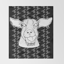Goathead Throw Blanket