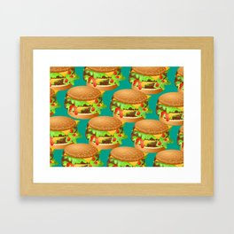 Double Cheeseburgers Framed Art Print