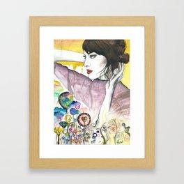 Alexa Chung Framed Art Print