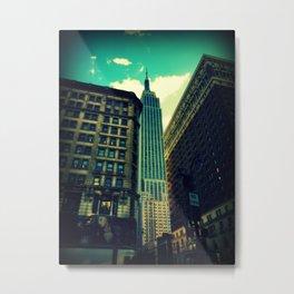 empire state building New York Metal Print