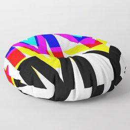 CMYK ON WH Floor Pillow