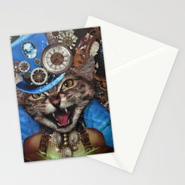 Miss. Steampunk Pussy Stationery Cards