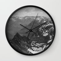 f1 Wall Clocks featuring Archangel Valley by Kevin Russ