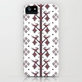 Tribal Ethnic Love Birds Kilim Rug Pattern iPhone Case