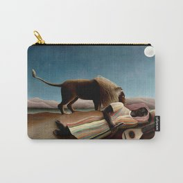 "Henri Rousseau The Sleeping Gypsy"", 1897 Carry-All Pouch"