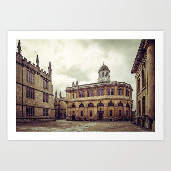 Oxford: Sheldonian Theater Art Print