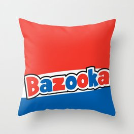 Bazooka retro bubble chewing gum Throw Pillow