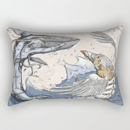 Raven and the Whale Rectangular Pillow