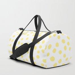 Yellow doodle dots Duffle Bag