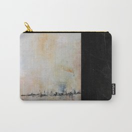 Earthy Abstract in Gray Brown Black and Orange Carry-All Pouch