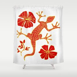 Tribal Lizard Design #1 Shower Curtain