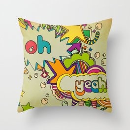 Yeah Yeah! Throw Pillow
