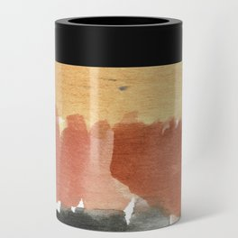 Abstract in Rust n Clay Can Cooler
