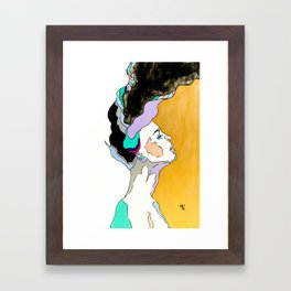 Explosion of Thoughts Framed Art Print