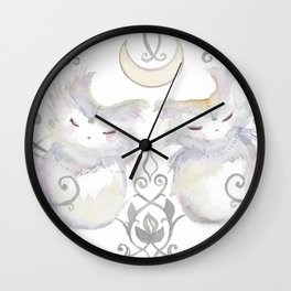 Moon & Mirror Twins Wall Clock