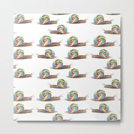 Candied Snails Metal Print