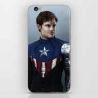 bucky barnes iPhone & iPod Skins featuring Bucky by E Cairns Art