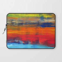 Horizon Blue Orange Red Abstract Art Laptop Sleeve