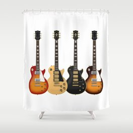 Four Electric Guitars Shower Curtain