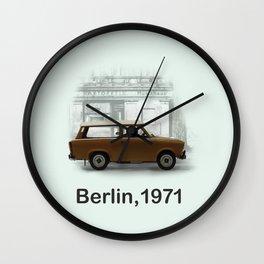 A Trabbi in Berlin Wall Clock