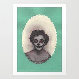dia de los muertos Elizabeth Taylor portrait Art Print