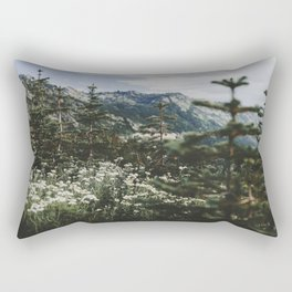 Mount Rainier Summer Wildflowers Rectangular Pillow