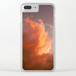 Pink Clouds Clear iPhone Case