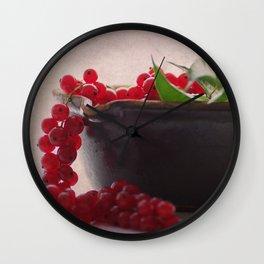 Still life of red currants Wall Clock