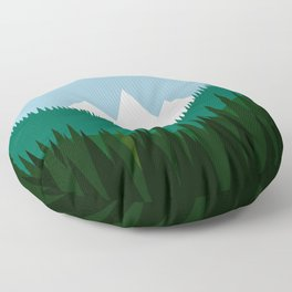 Pacific Northwest Mountains Floor Pillow