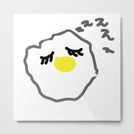 sleepy egg Metal Print