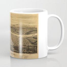 Aerial View of Portland, Oregon (1879) Coffee Mug
